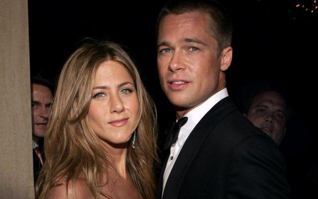 Jennifer Aniston og Brad Pitt á meðan allt lék í lyndi.
