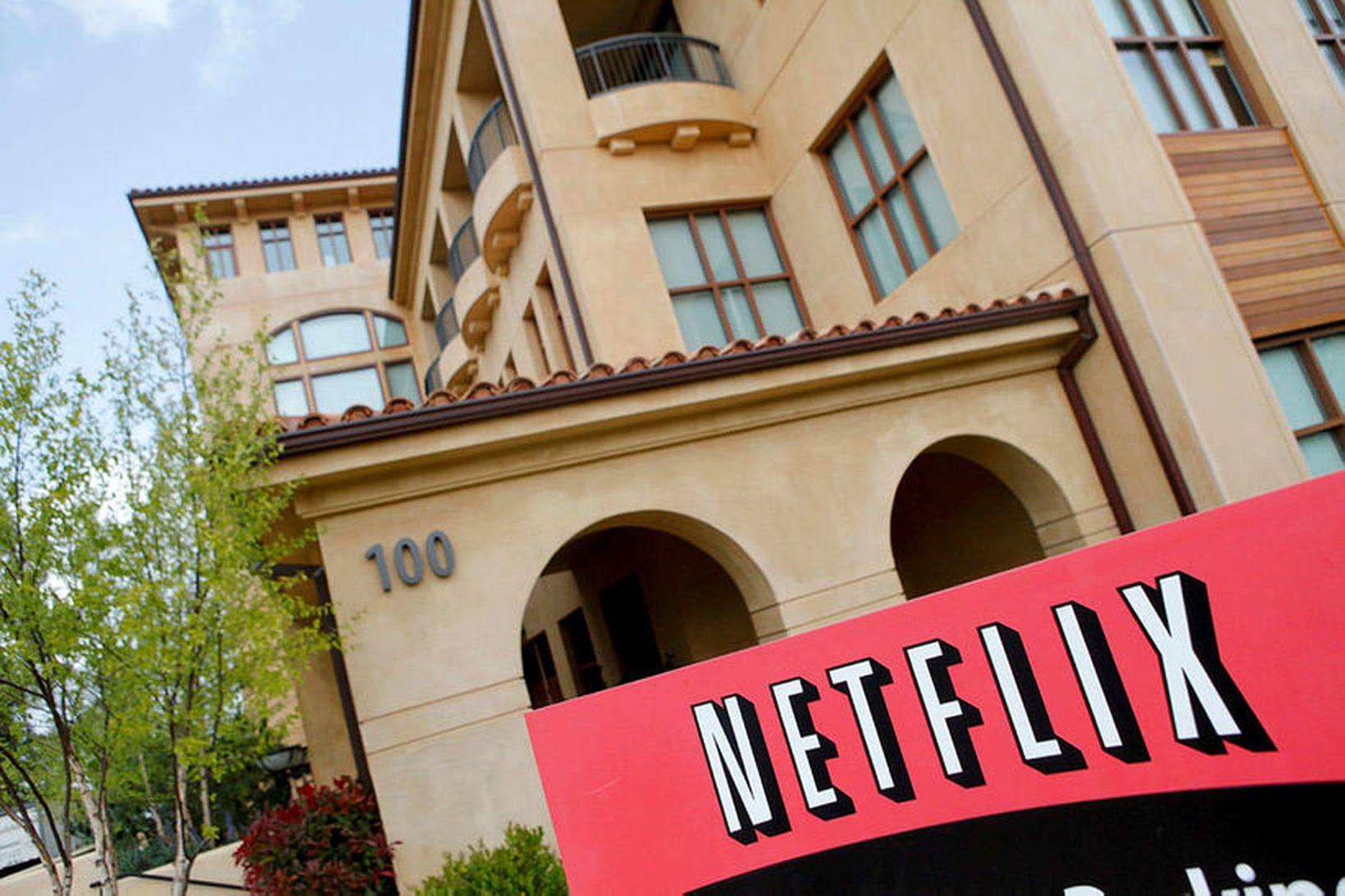 Höfuðstöðvar Netflix í Los Gatos í Kaliforníu.