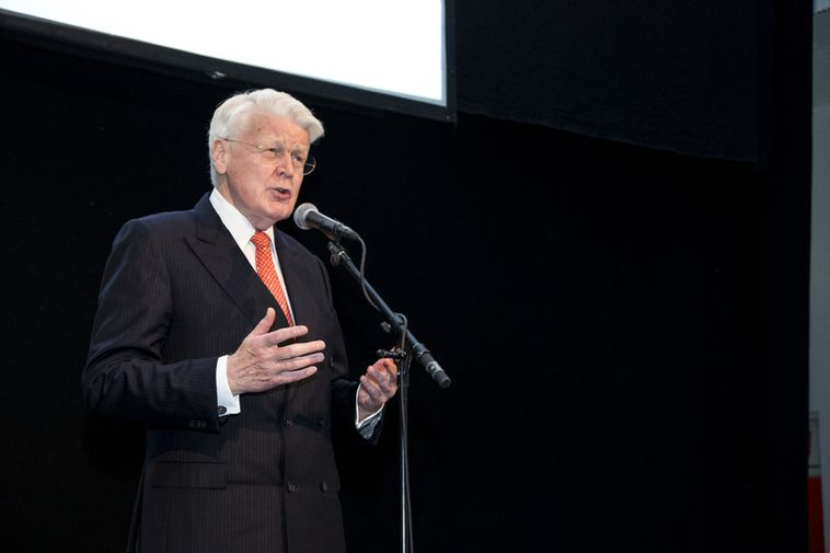 President Ólafur Ragnar Grímsson at the opening of the 2013 Arctic Circle Assembly in Harpa, …