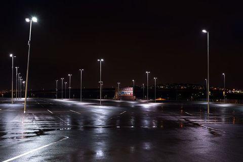 A parking lot at Bauhaus, a hardware store just outside Reykjavik.