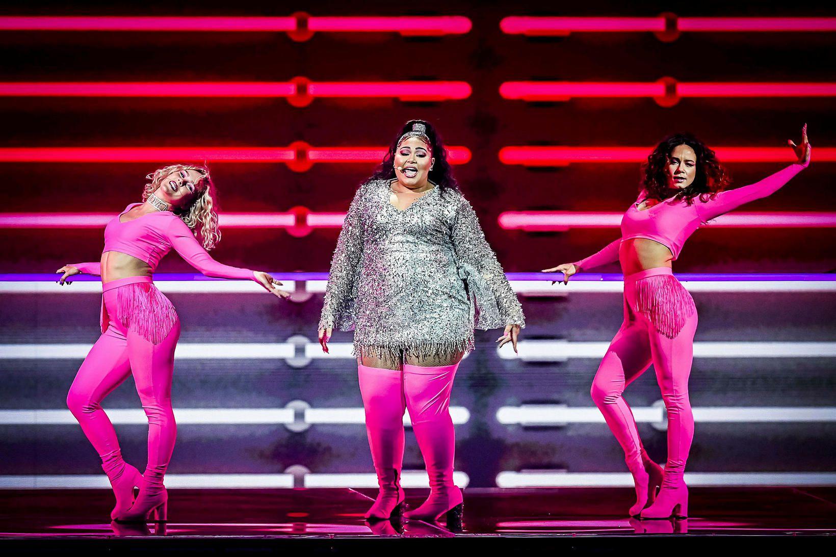 Hópurinn Destiny kemur fram fyrir hönd Möltu í Eurovision í …