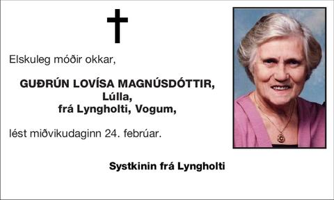 Guðrún Lovísa Magnúsdóttir,