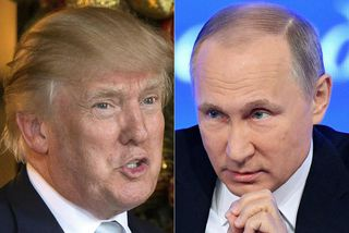 Donald Trump og Vladimír Pútín.