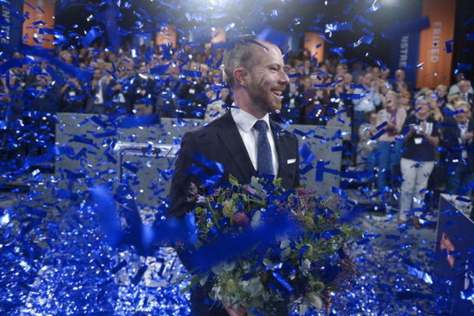 Jakob-Ellemann-Jensen er nýr formaður danska hægriflokksins Venstre.