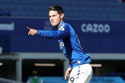 James Rodriguez er farinn frá Everton.