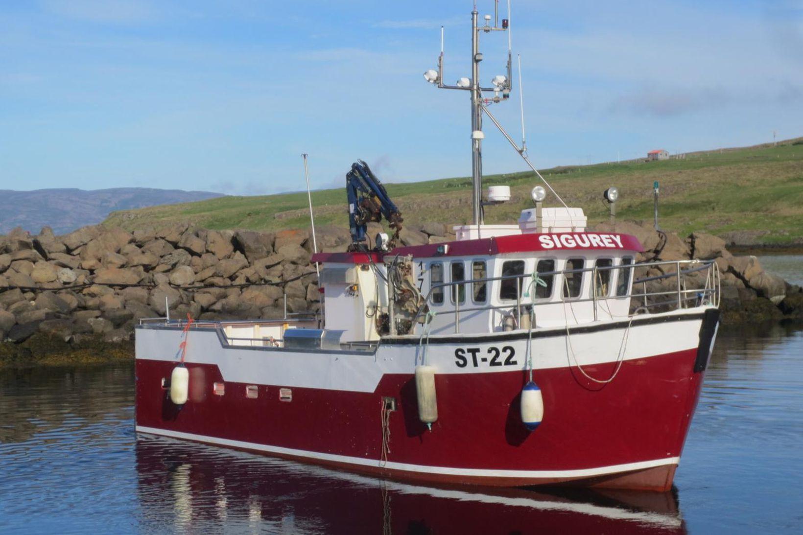 Sigurey ST-22 er aflamesti grásleppubáturinn til þessa á yfirstandandi grásleppuvertíð.