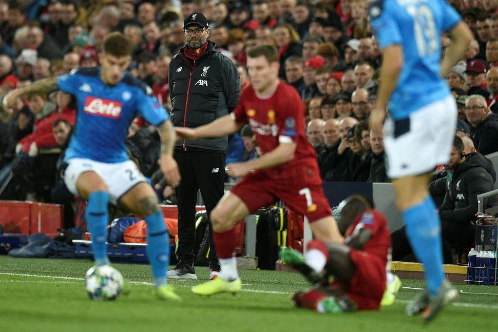 Hart barist í leik Liverpool og Napoli í kvöld.