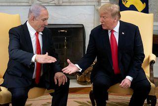 Benjamin Netanyahu, forsætisráðherra Ísraels, og Donald Trump Bandaríkjaforseti á fundi í Hvíta húsinu í mars. ...