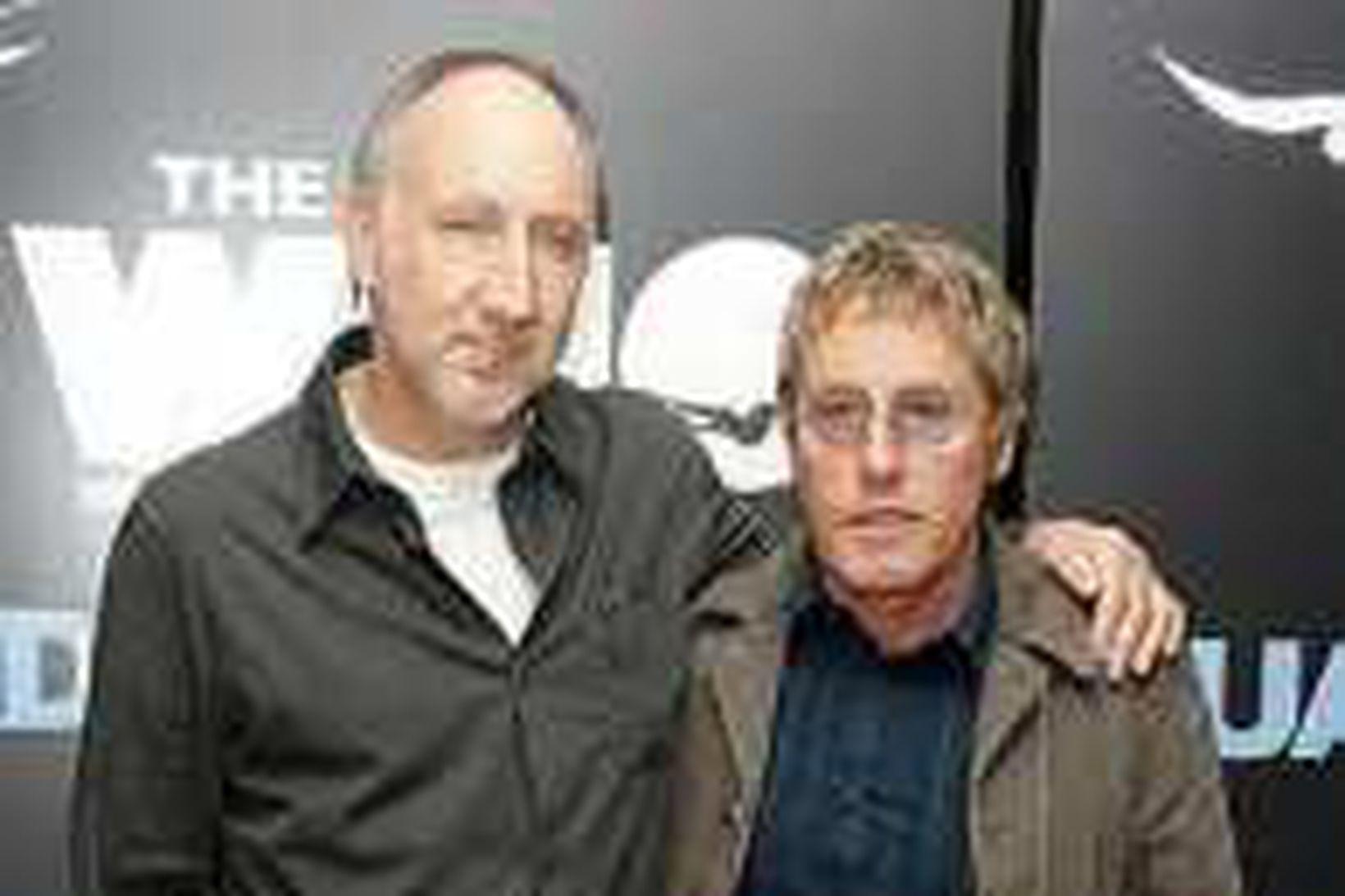 Félagarnir Pete Townshend og Roger Daltrey í The Who.