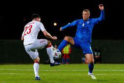 Ragnar Sigurðsson í leik með íslenska landsliðinu gegn Danmörku í Þjóðadeild UEFA á dögunum.