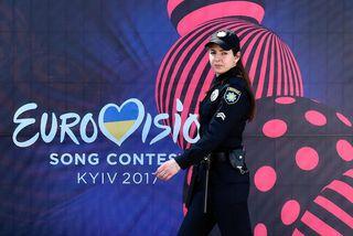 Gríðarleg öryggisgæsla er í Kænugarði þessa dagana vegna Eurovision.