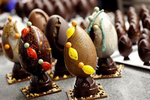 Chocolatier Hafliði Ragnarsson creates deluxe Easter eggs.