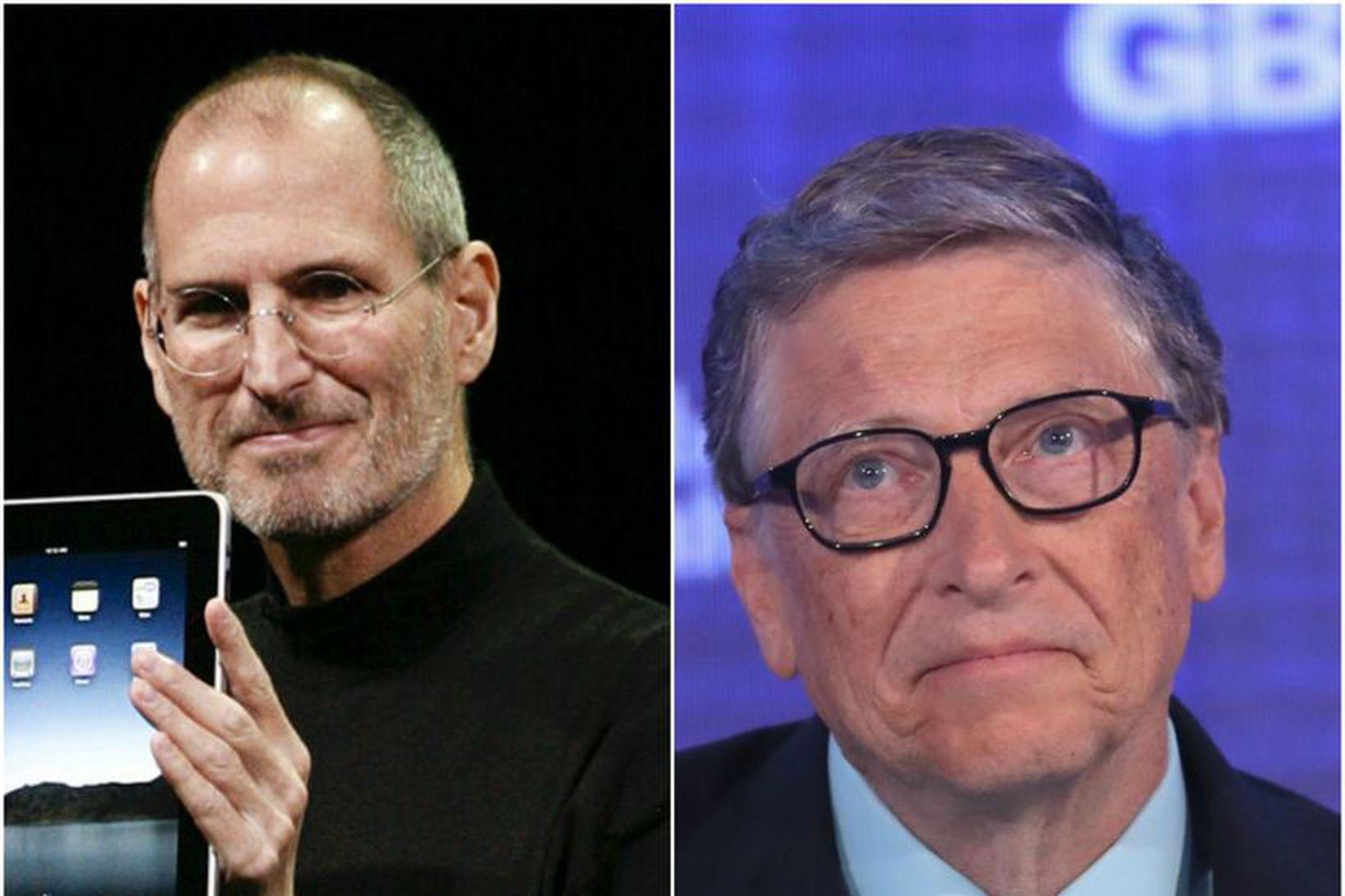 Þeir Steve Jobs og Bill Gates pössuðu upp á að …