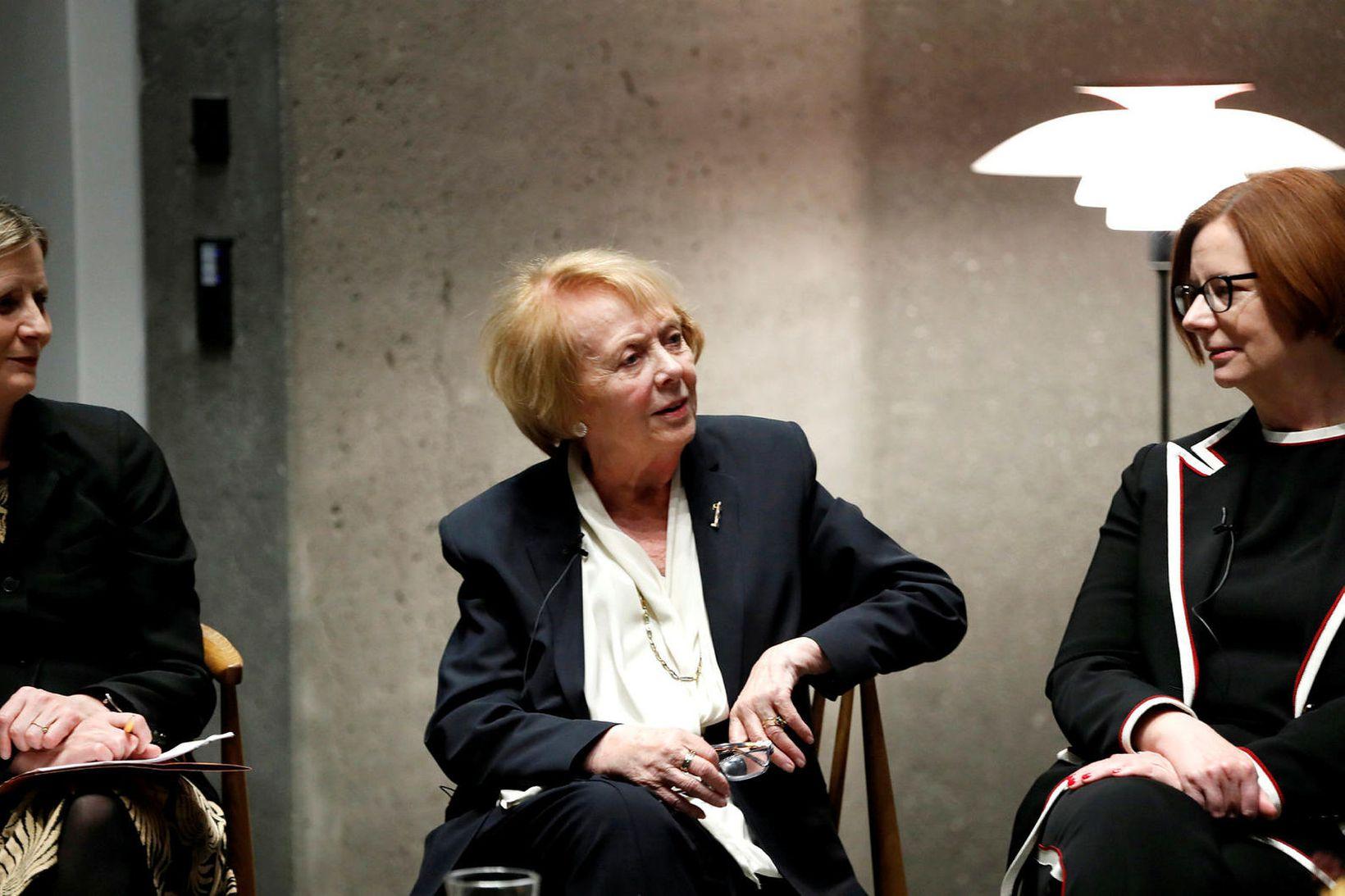 Irma Erlingsdóttir, Vigdís Finnbogadóttir og Julia Gillard á Council of …