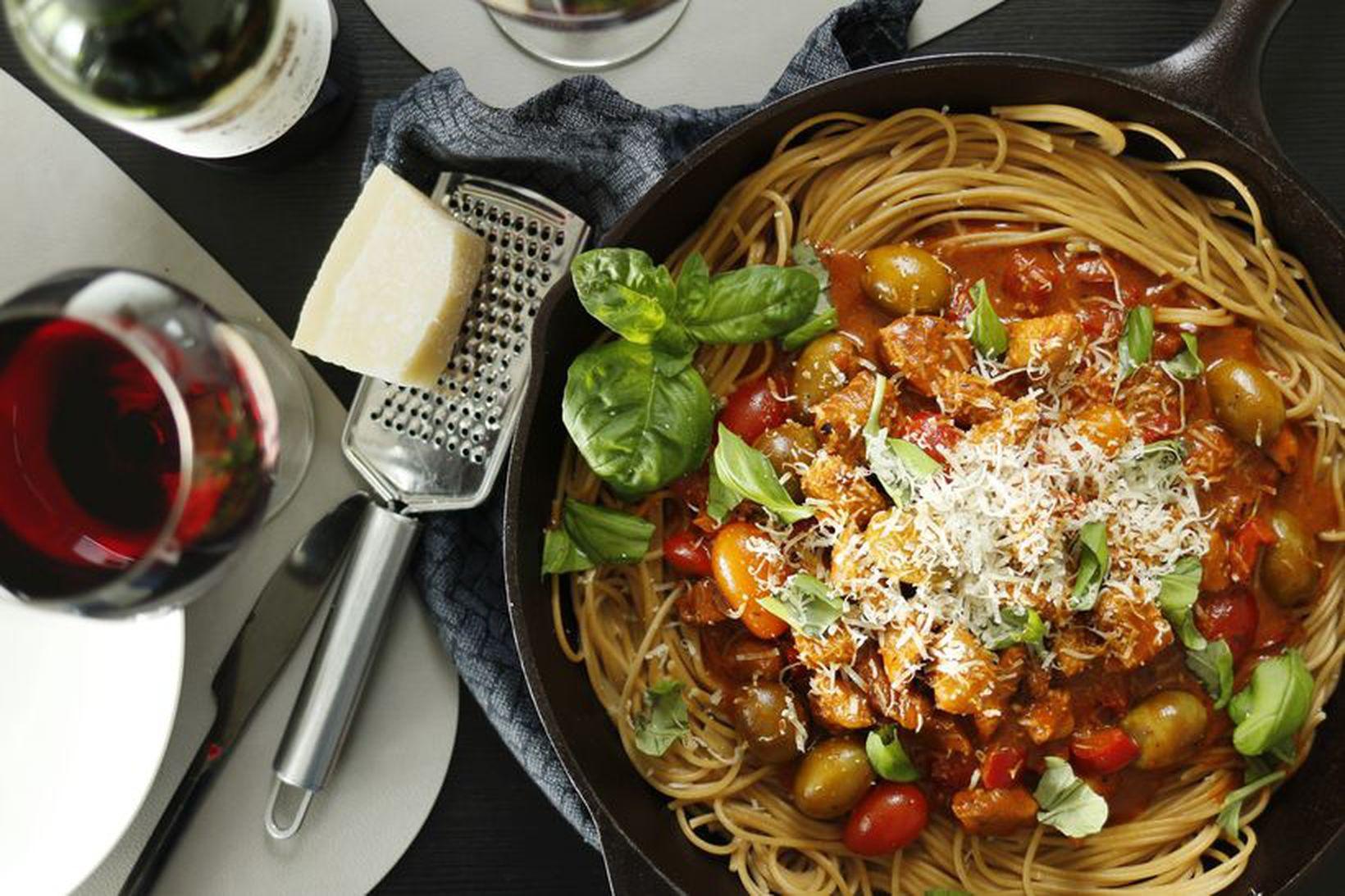 Fljótlegt spaghettí sem slær alltaf í gegn.