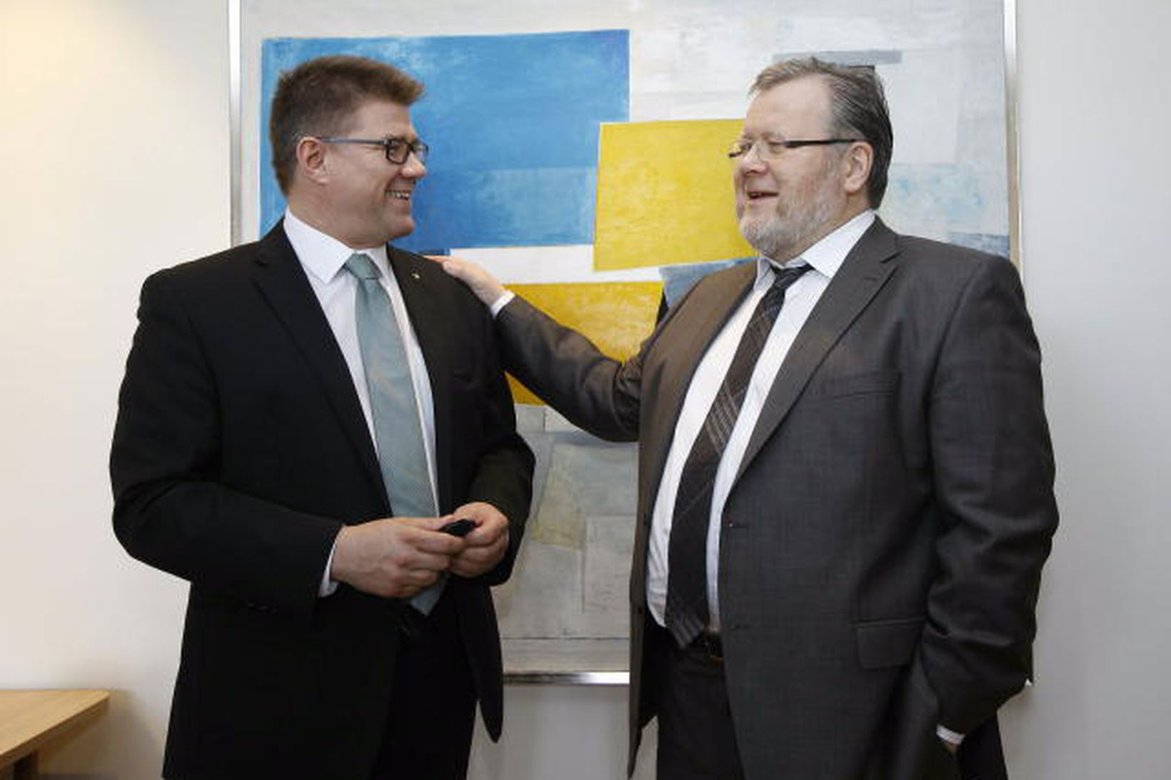 Gunnar Bragi og Össur Skarphéðinsson.