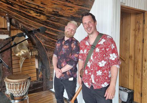 Jónas Þór Viðarsson og Arnþór Þórsteinsson slógu í gegn á K100 á Húsavík.