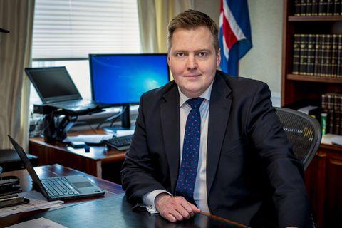 Sigmundur Davíð Gunnlaugsson PM.
