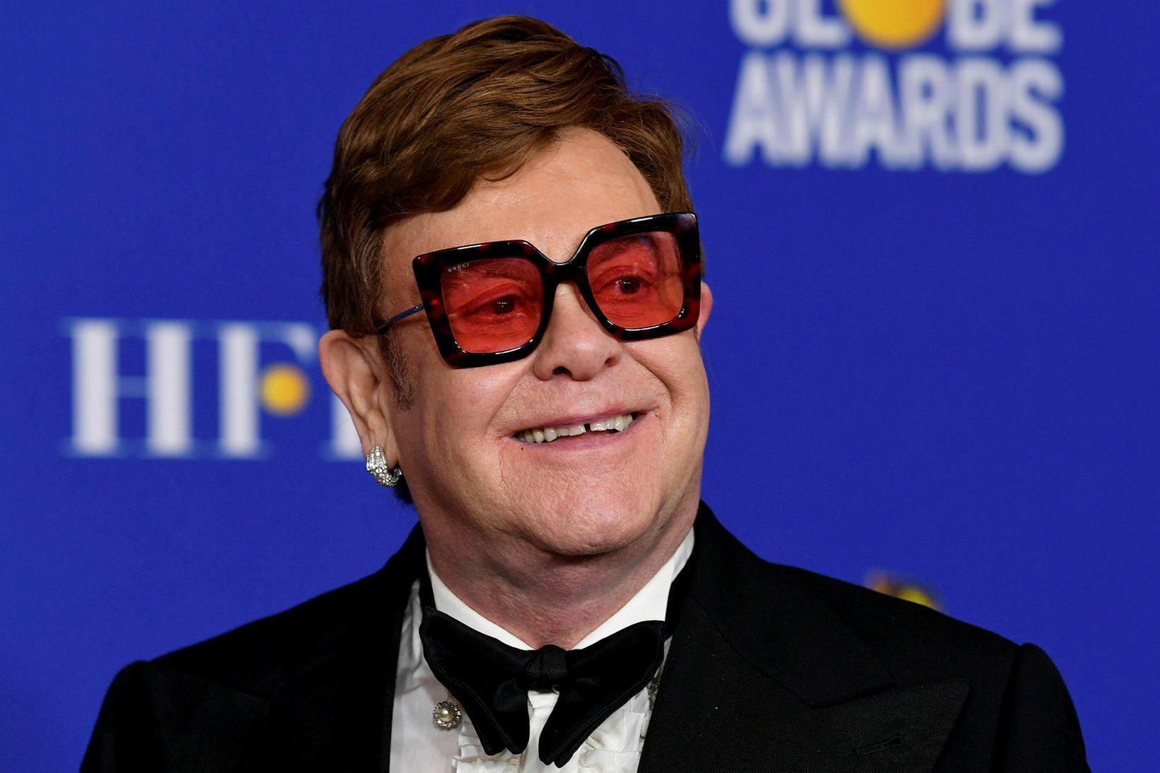 Elton John öskrar ekki á börn sín.