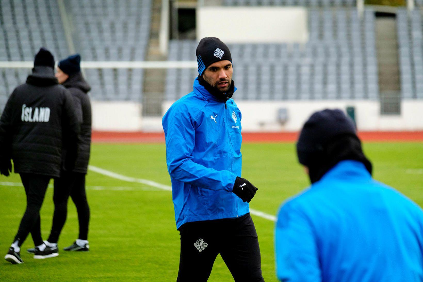 Guðlaugur Victor Pálsson verður ekki með gegn Liechtenstein.