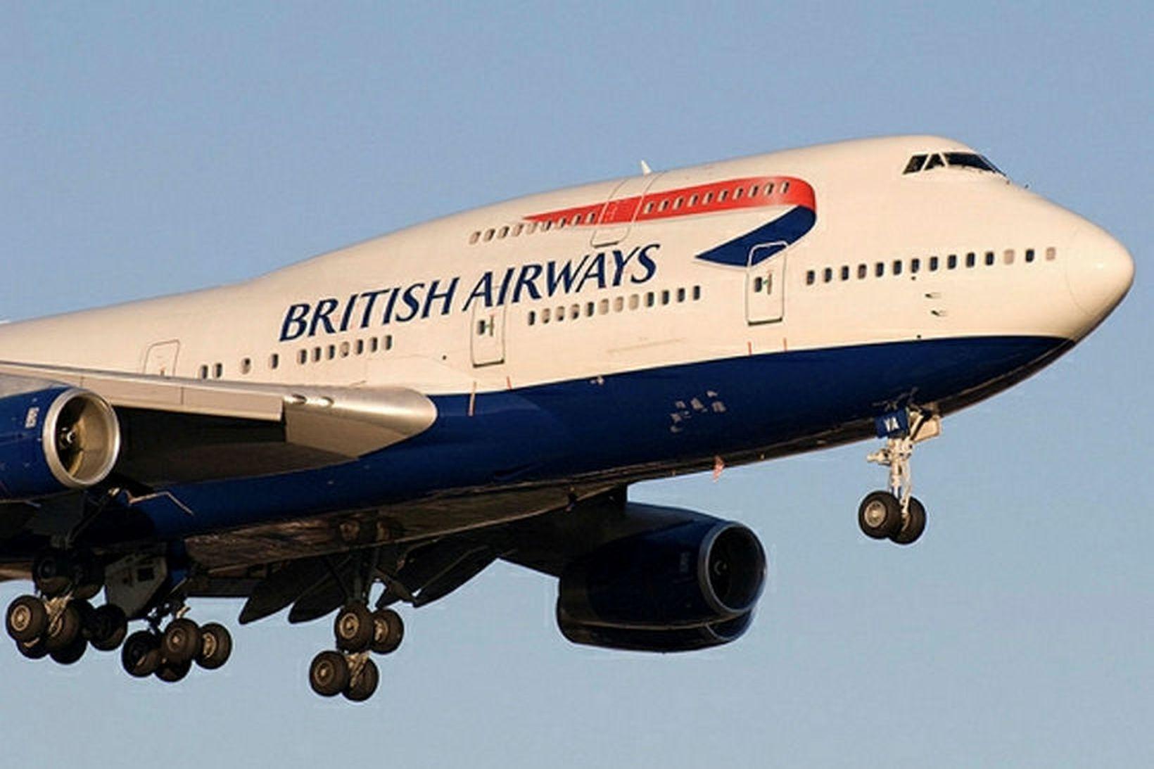 Talsmaður British Airways segir að flugfélagið hafi beðist afsökunar á …
