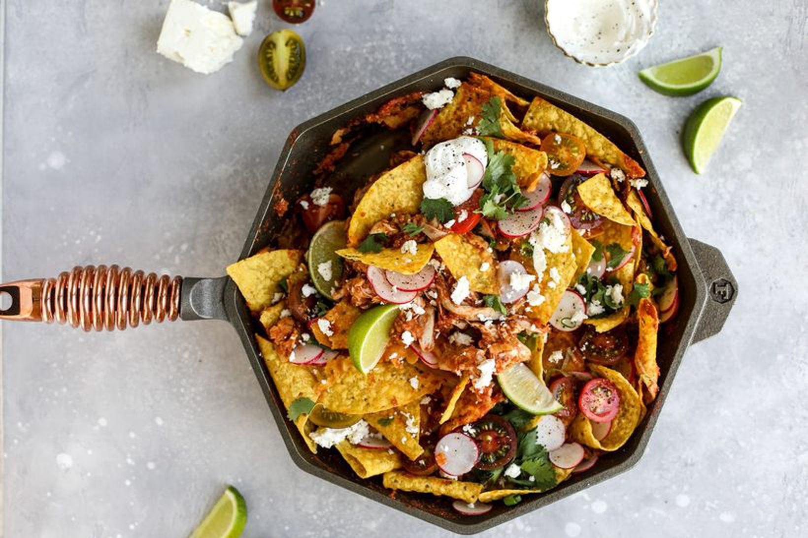 Kjúklinga nachos sem þú verður að prófa.