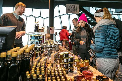 The Food Fayre takes place in Harpa, one of Reykjavik's landmarks.