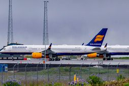 Þotur Icelandair á Keflavíkurflugvelli.
