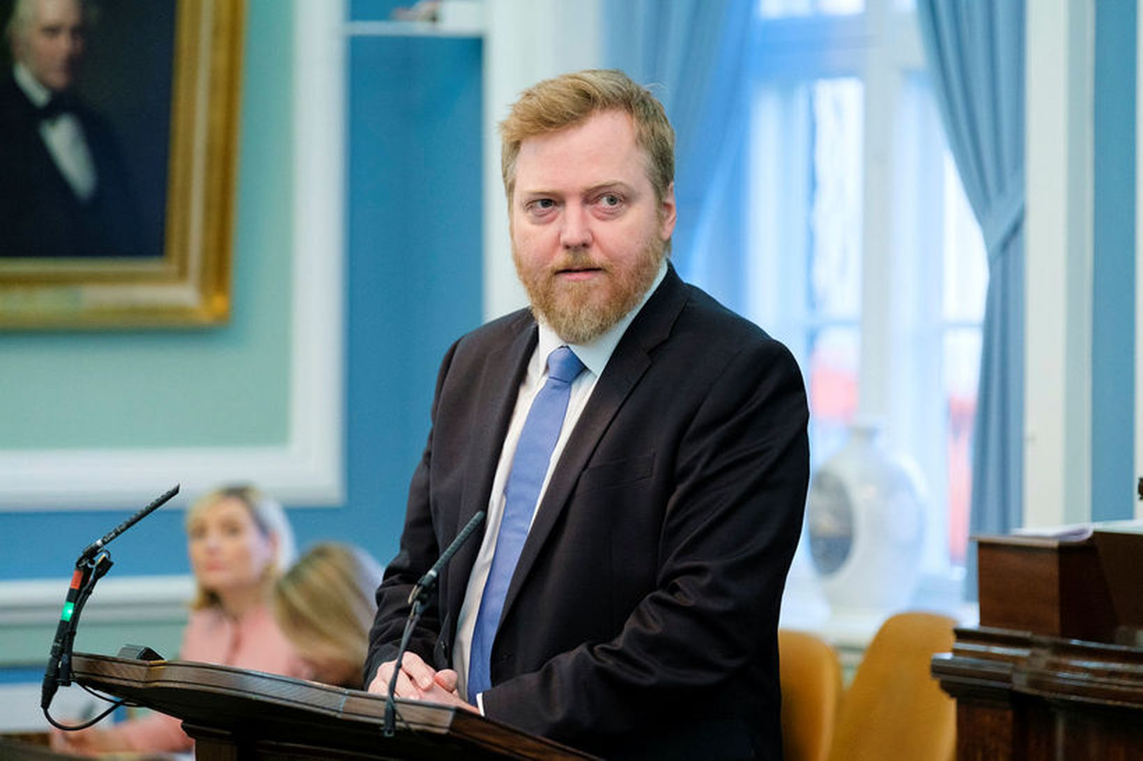Tilefni pistils Sigmundar Davíðs er viðtal Kastljóss við Lilju Alfreðsdóttur.