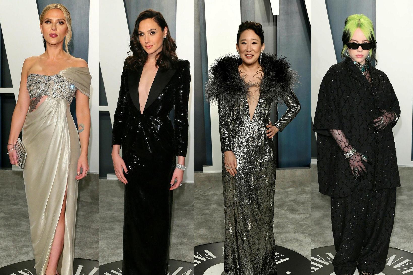 Scarlett Johansson, Gal Gadot, Sandra Oh og Billie Eilish skiptu …