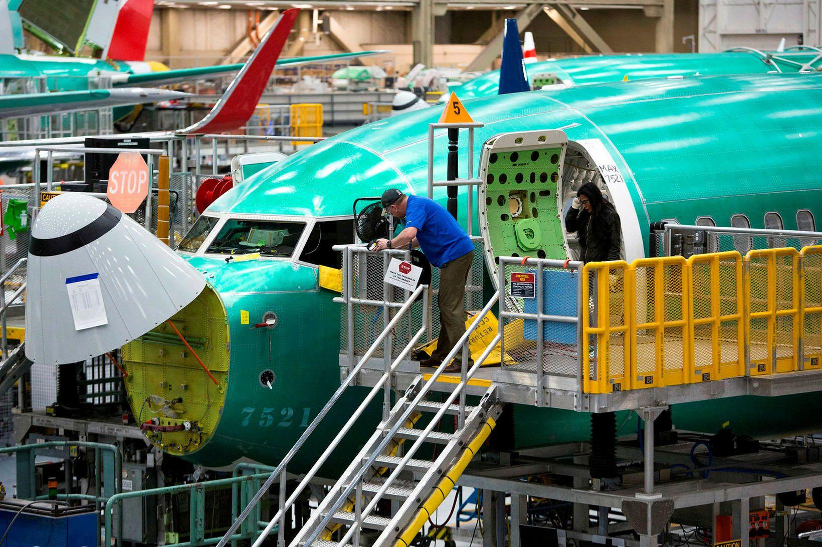 Frá verksmiðju Boeing í Renton í Washington-ríki. Ekki kemur fram …