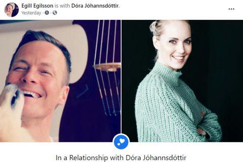 Egill Egilsson og Dóra Jóhannsdóttir eru lukkuleg.