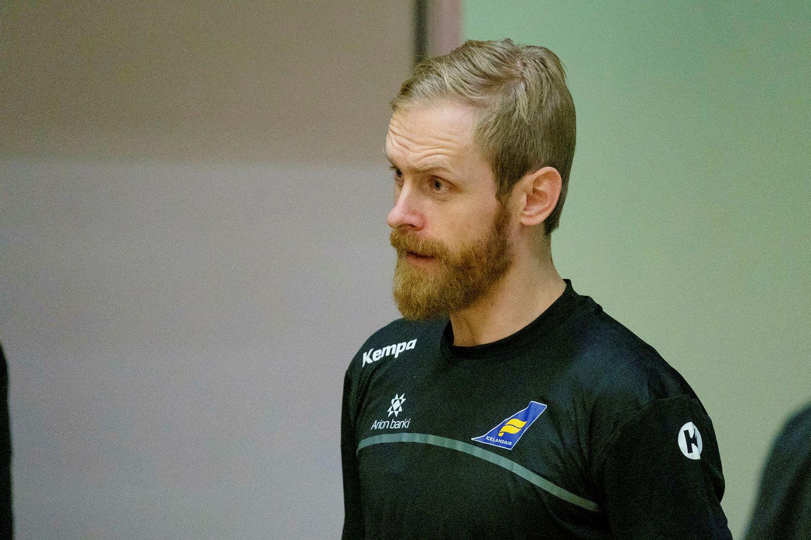 Björgvin Páll Gústavsson landsliðsmaður.