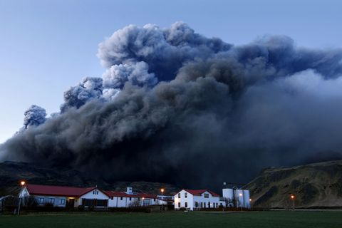 The Eyjafjallajökull eruption.