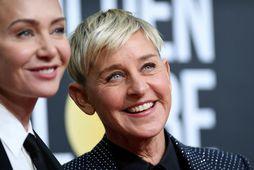 Ellen DeGenerers ásamt eiginkonu sinni, leikkonunni Portiu de Rossi.