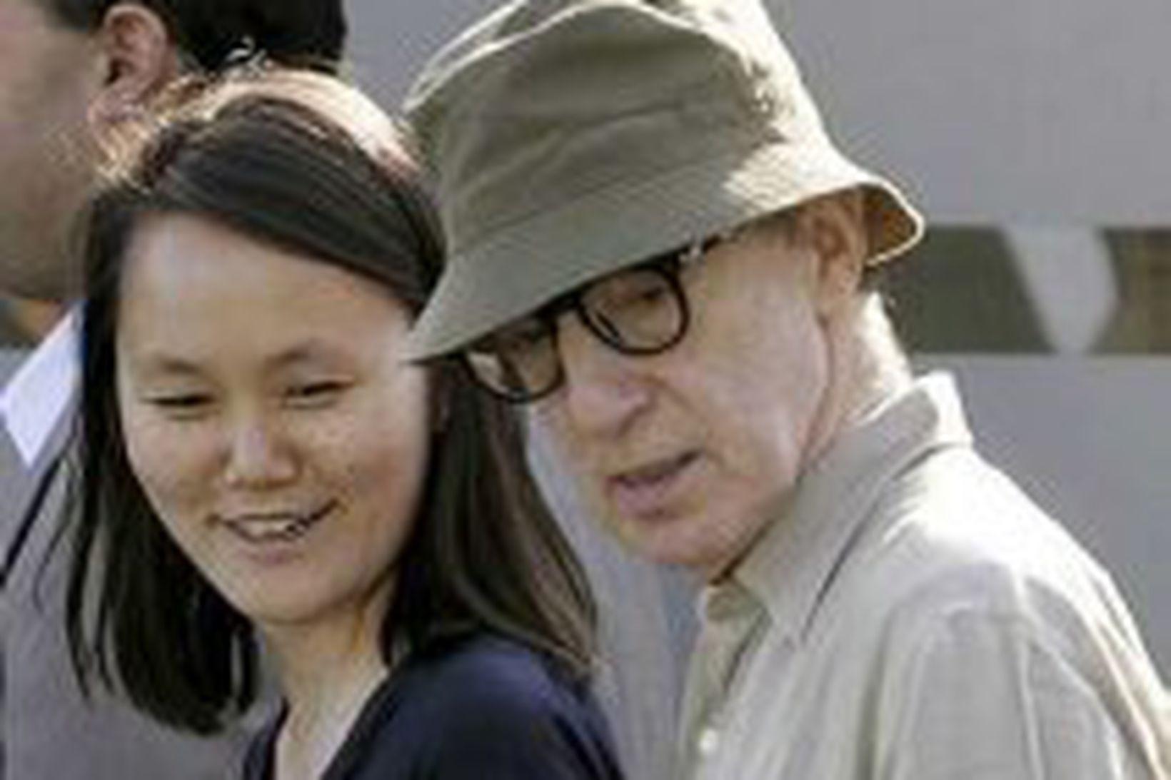Woody Allen með eiginkonu sinni Soon-Yi Previn