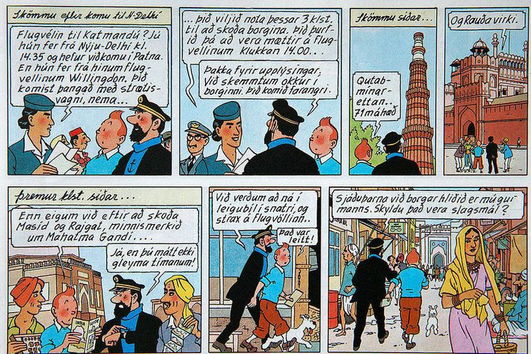 A page from The Adventures of Tintin.