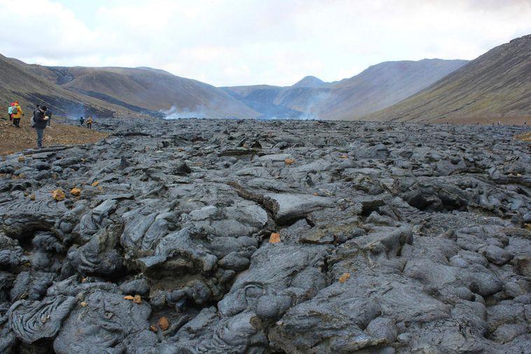 Lava is gradually filling up Nátthagi valley.