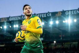 Emiliano Buendía sló í gegn með Norwich á síðustu leiktíð.