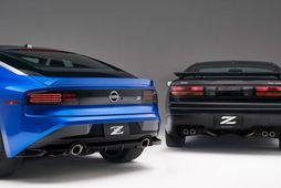 Hinn nýi Nissan Z og Nissan 300ZX.