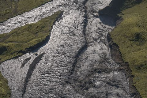 From a glacial outburst flood in Skaftá river in August of 2018.