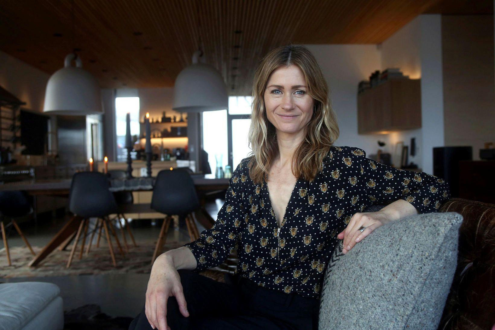Anna Örvarsson varði miklum tíma í að hanna heimili fjölskyldunnar …