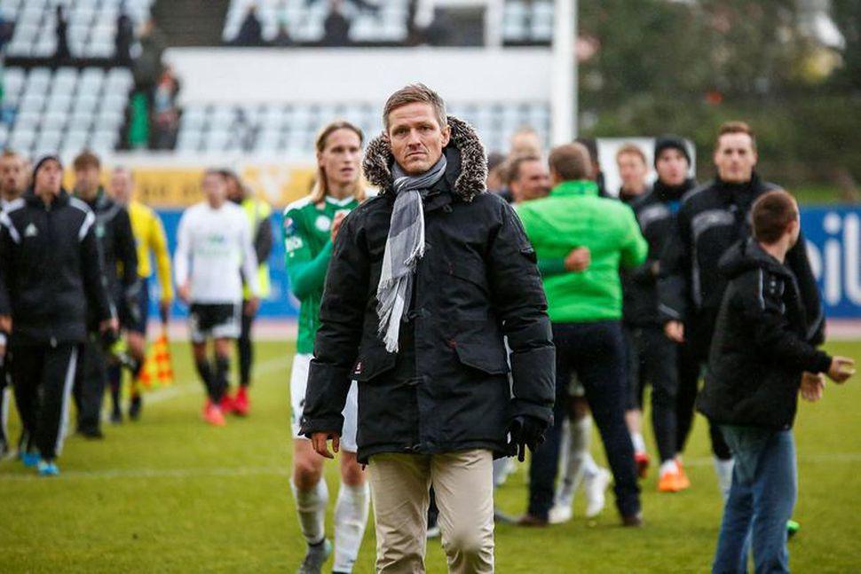 Arnar Grétarsson þjálfari Breiðabliks.