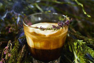 A creamy smooth thyme espresso.