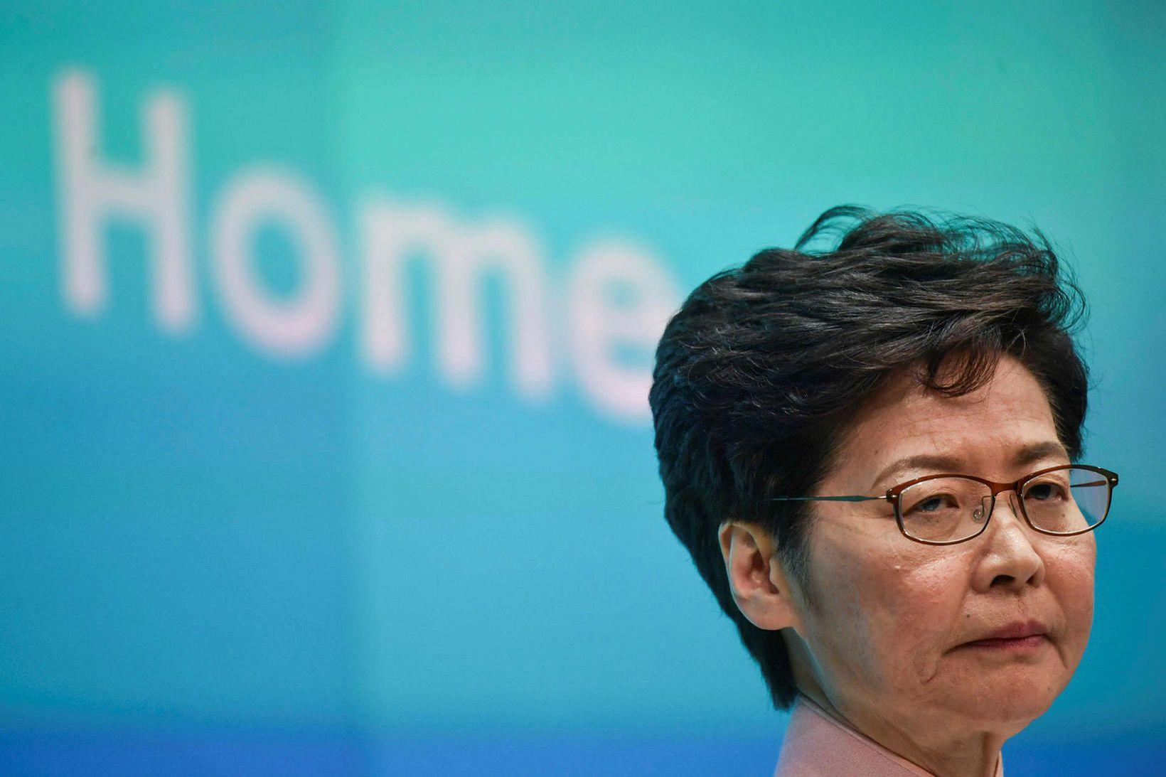 Carrie Lam, ríkisstjóri Hong Kong.