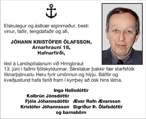 Jóhann Kristófer Ólafsson,