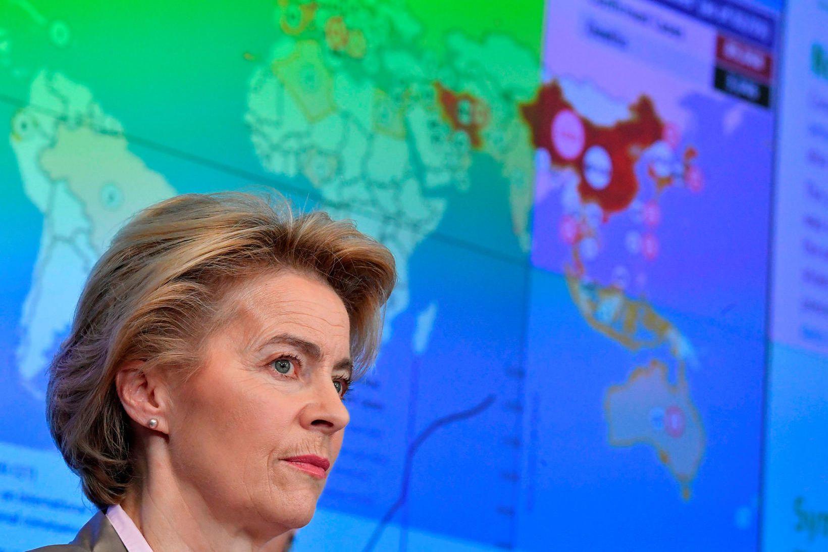 Ursula von der Leyen, forseti framkvæmdastjórnar ESB, hækkaði viðbúnaðarstig vegna …