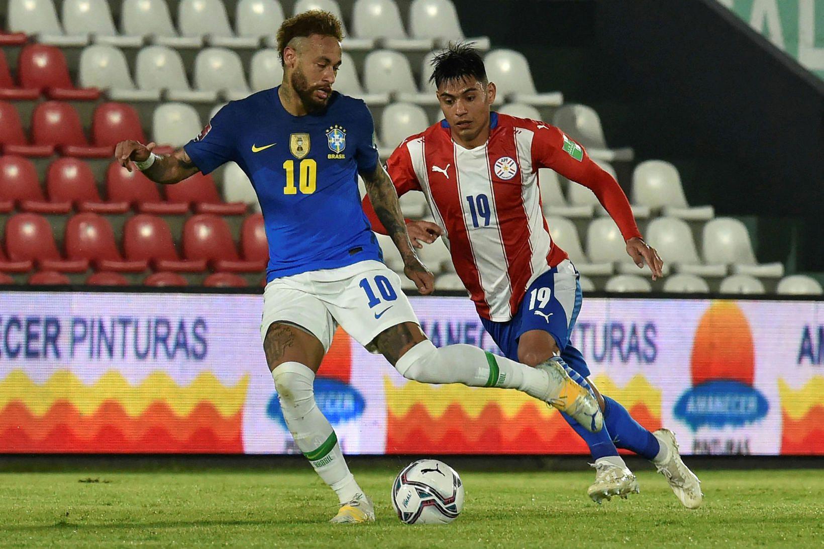 Neymar er skærasta stjarnan í brasilíska landsliðinu.