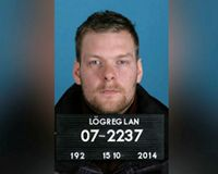 Sindri Þór Stefánsson escaped from Iceland on Wednesday morning taking a flight to Sweden.