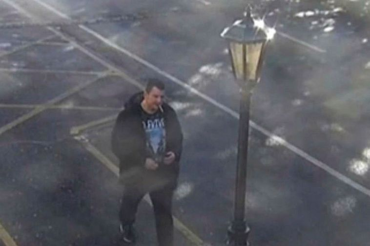 An image from a security camera in Dublin just before he disappeared.